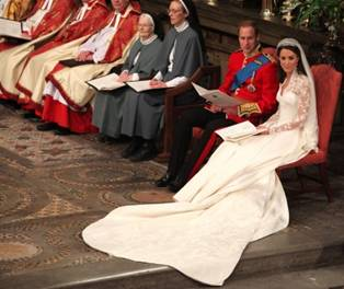 Prince William and Kate Wedding Service