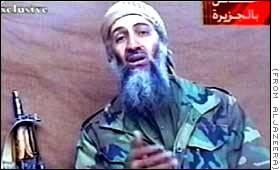 Osama bin Laden Dec. 2001 with paralyzed left arm