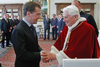 Russian President seals Concordat with Rome 2011