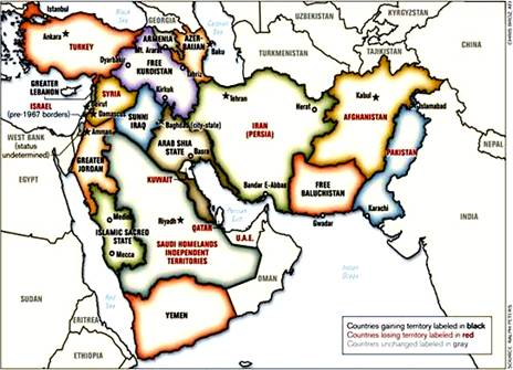 Map of the New Middle East