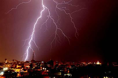Electrical Thunderstorm over Tel Aviv