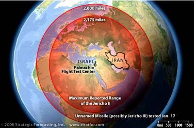 Israel Ballistic Missile Ranges