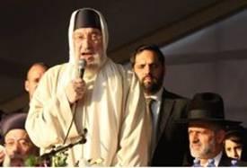 Rabbi Baruch Abuhatzeira at Baba Elazer's Funeral