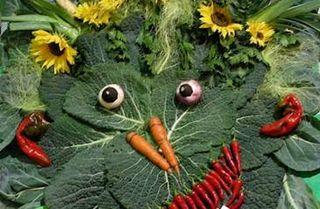 Preparing to Eat in Garden Eden