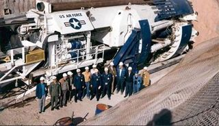 US Air Force tunnel boring machine