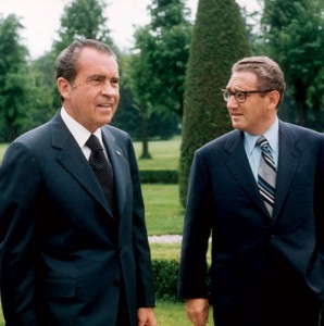 Henry Kissinger with President Richard Nixon