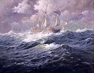 Mayflower at Sea