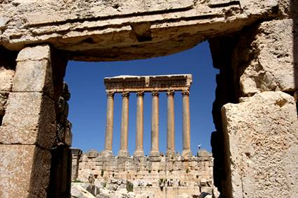 Roman Temple Jupiter Baalbek Lebanon