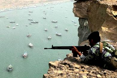 Iranian Exercise in the Strait of Hormuz