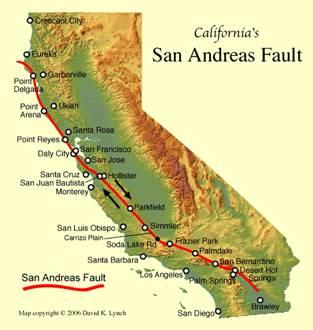 California San Andreas Fault Line