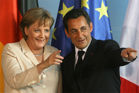Angela Merkel and Nichols Sarkozy