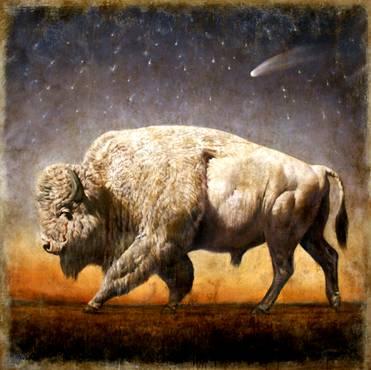Sacred White Buffalo Cheyenne hunt 1833