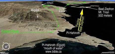 Pi-Hahiroth and Baal-Zephon