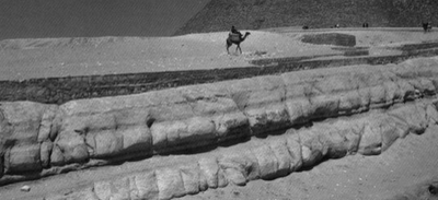 Sphinx Enclosure Water Erosion