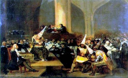 De Goya's Tribunal of the Inquisition
