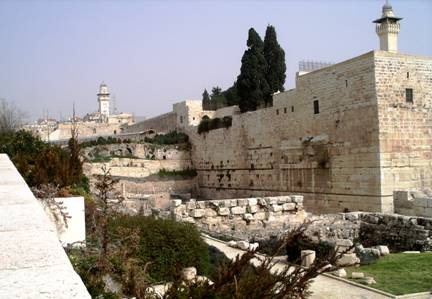 Remnant Robinson's Arch on Temple Mount