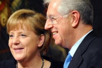 Angela Merkel and Mario Monti