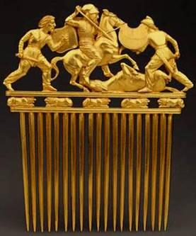 Golden Scythian-Israelite Comb
