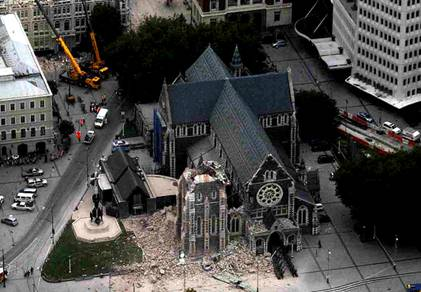 Christchurch Cathedral Belltower Collapse