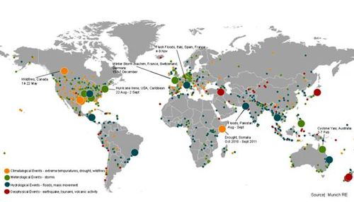 2011 Map of Global Disasters