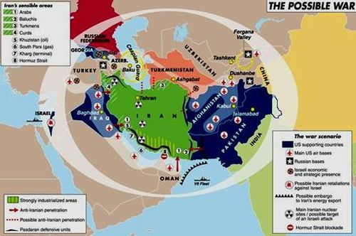 NATO-American miliatary bases around Iran