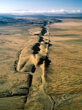 San Andreas Fault - California and Baja California