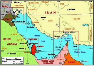 U.S. Naval Strength limits in Persian Gulf