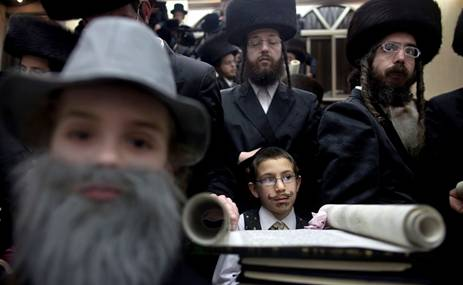 Jews Ultra-Orthodox Purim