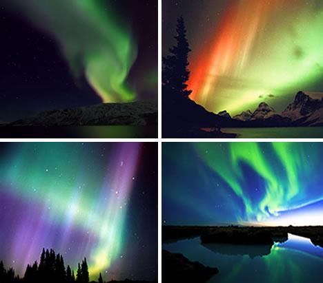 Color Transformations Aurora Borealis