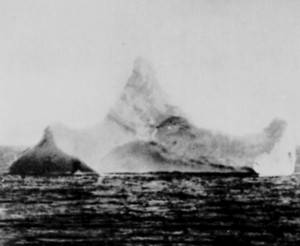 Iceberg the Titanic hit in the Atlantic Ocean