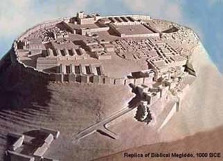 Model of the Biblical City of Megiddo