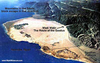 Route of the Exodus at the Gulf of Aqaba