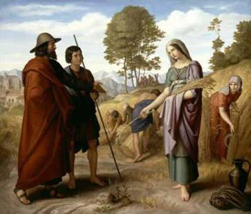 Ruth accepting the Grain from Boaz