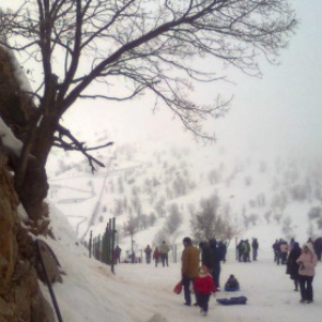 Snowstorms on Mount Hermon Ski Resort