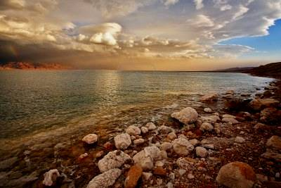 Spring Thunderstorm over the Dead Sea