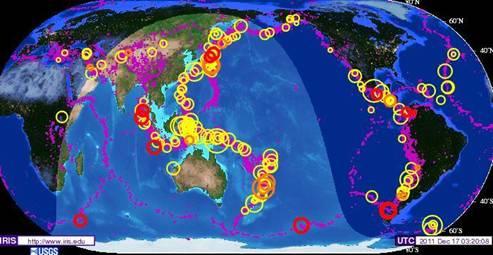 IRIS Earthquake  2-Year Historic Map 2009-2011