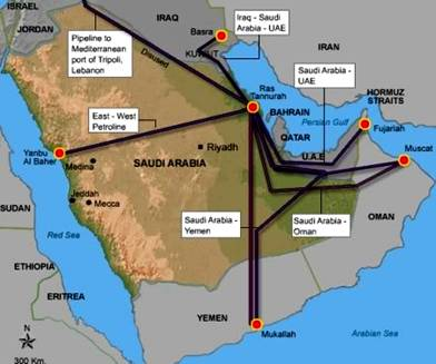 Oil Transport across Saudi Arabia