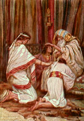 Patriarch Jacob blessing the Sons of Joseph