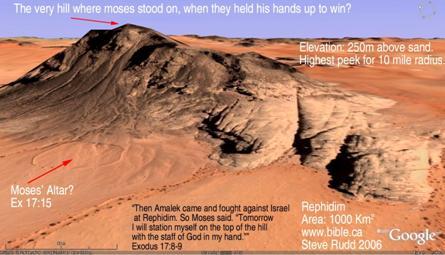 Rephidim - Israelites battle Amalekites