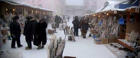 Eastern Russian Marketplace in the Yakutsk Region