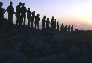 Sunset Worship at Mount Ebal