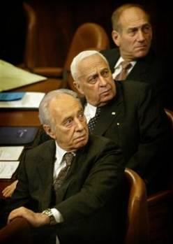 Peres, Sharon, Olmert