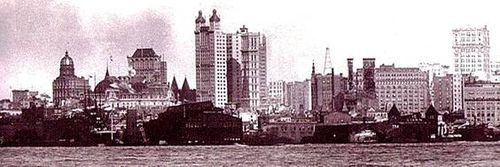 Manhattan skyline 1902