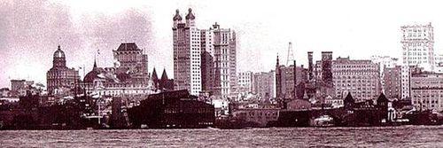 Manhattan skyline 1902