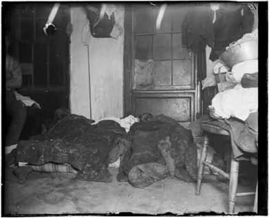 Sleeping lodgers Gotham Court tenement