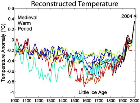 Infamous Hockey Stick Graph on Global Warming