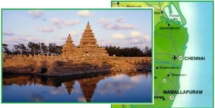 Temple of Mamallapuram in India