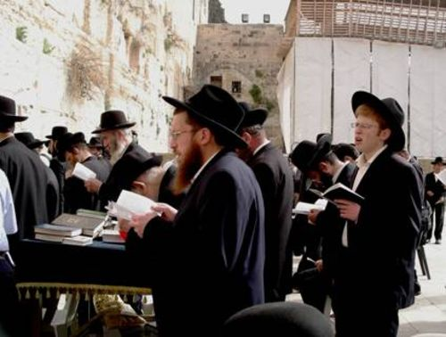 Modern Orthodox Jews at the Western Wall