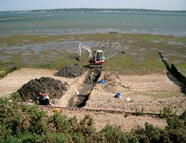 Archeological Dig Site on Doggerland Mound