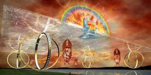 Merkhabah Throne seen by Prophet Ezekiel